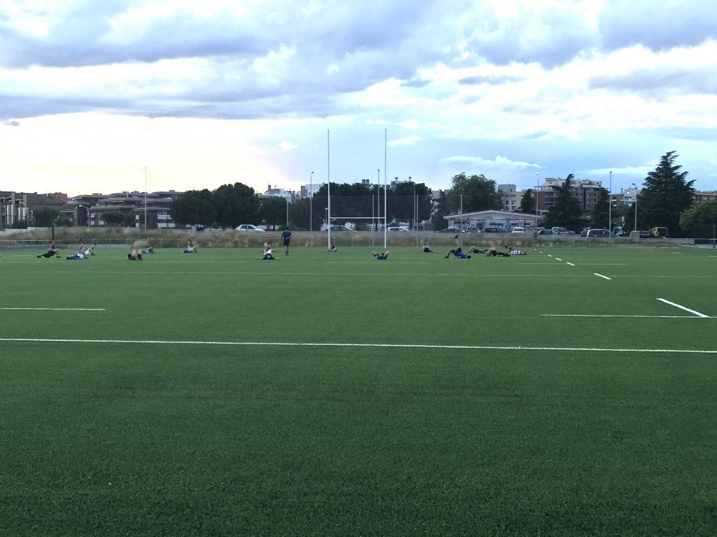Entrenamiento equipo senior San Isidro Rugby Club, Campo de Rugby Tres Olivos